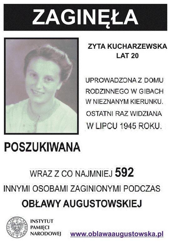 Zaginela podczas oblawy Augustowskiej