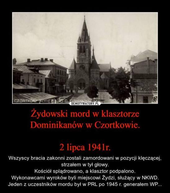Zydowski mord w klasztorze Dominikanow