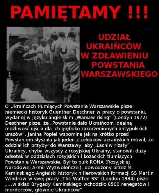 Ukraincy zwalczali Powstancow Warszawy