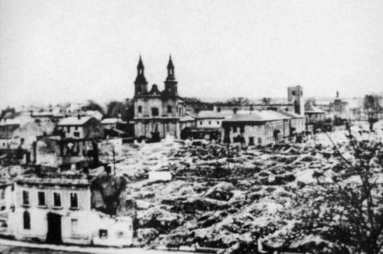 wielun-bombarded