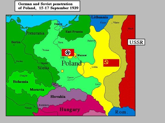 German & Soviet penetration of Poland