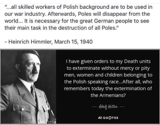 Hitler's quote about Poles
