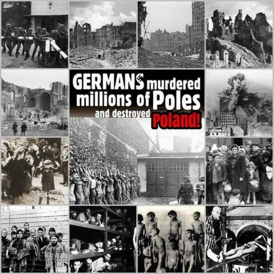 The destruction of Poland by Germans