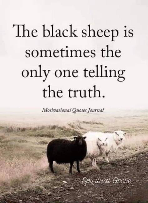 Black sheep sometimes tells the truth
